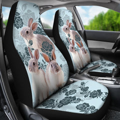 2pcs Rabbit Car Seat Cover