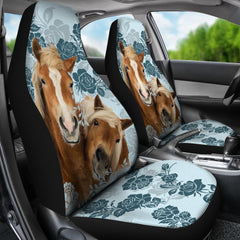 2pcs Horses Car Seat Cover