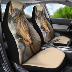2 pcs Beautiful Horse Car Seat Covers ADAK070504
