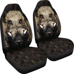 2pcs Wild Boar Car Seat Cover
