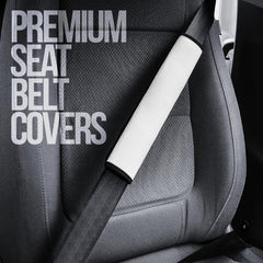 White seat belt covers