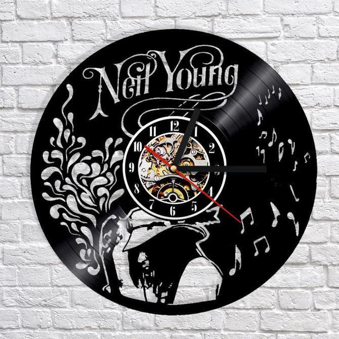 Neil Young Vinyl Record Wall Clock