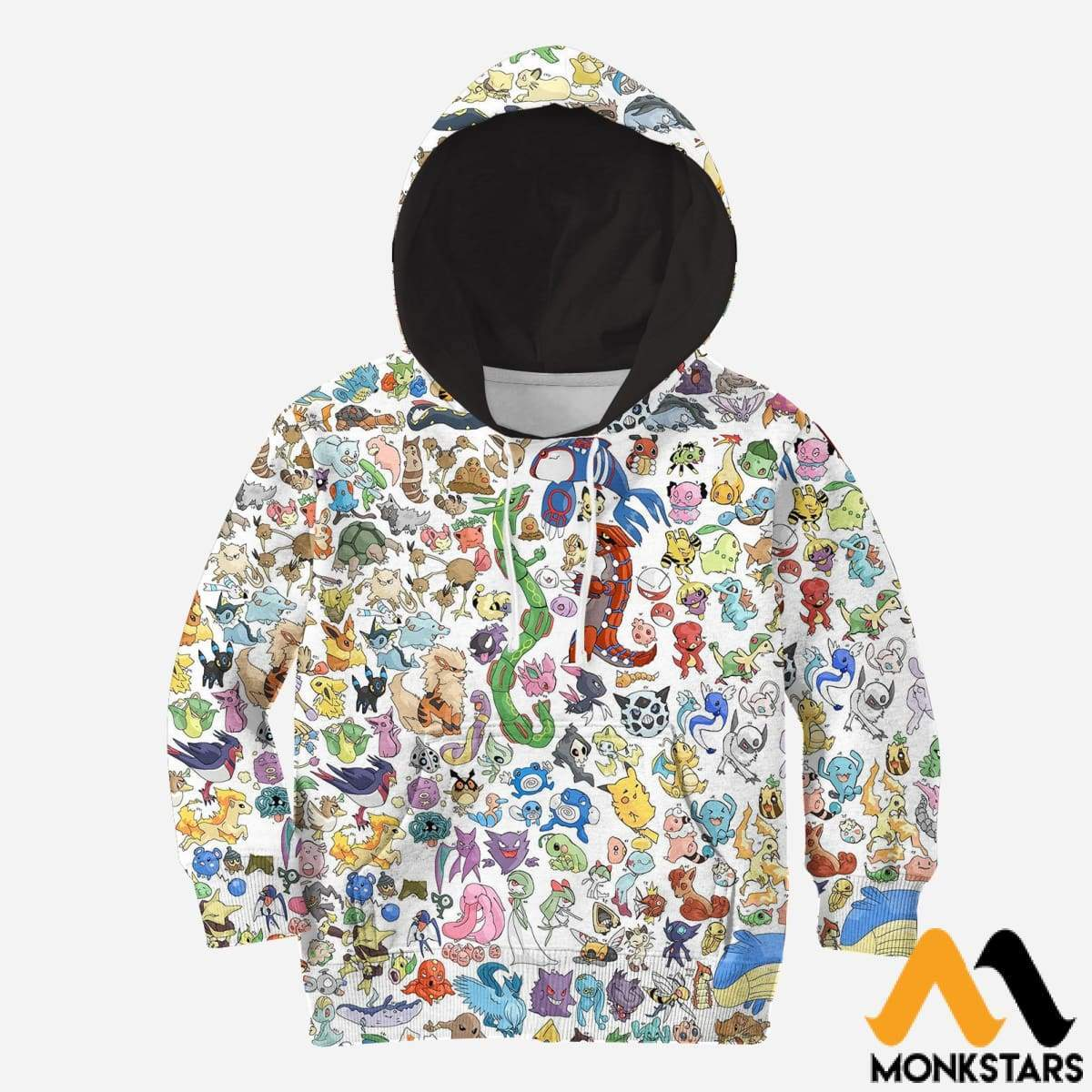 Kid 3D All Over Printed Pokemon Shirts And Shorts Normal Hoodie / Toddler 2T Clothes