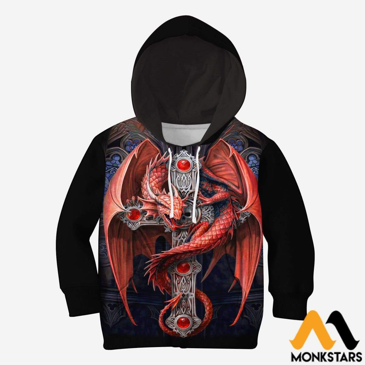 Kid 3D All Over Printed Red Dragon Shirts And Shorts Normal Hoodie / Toddler 2T Clothes
