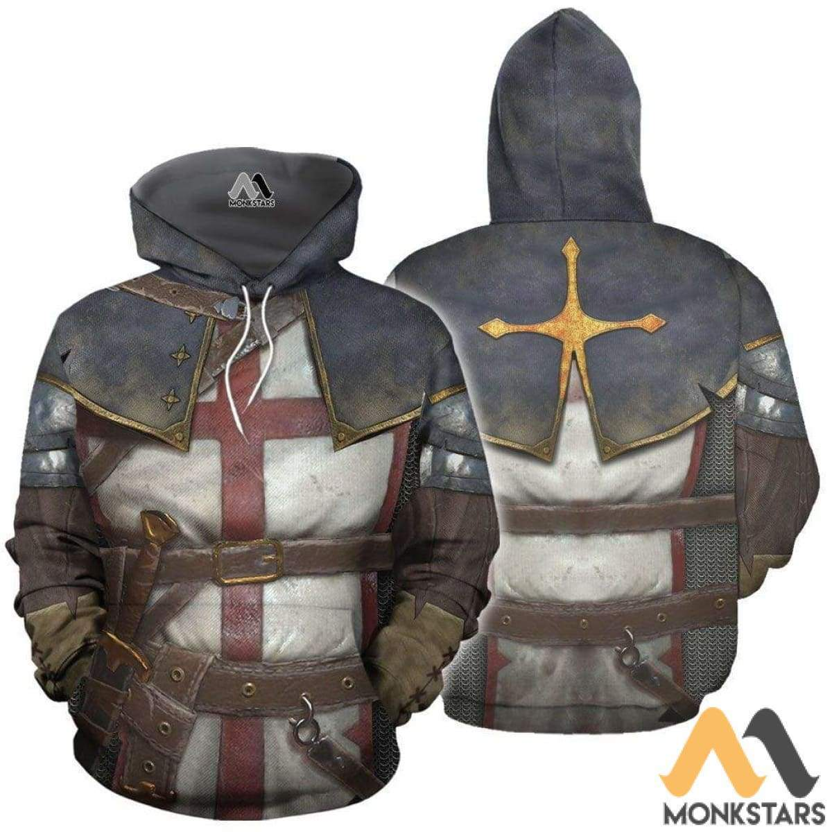 Knights Templar 3D All Over Printed Shirts For Men & Women Normal Hoodie / Xs Clothes