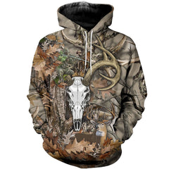 3D All Over Printed Deer Skull Art Shirts and Shorts