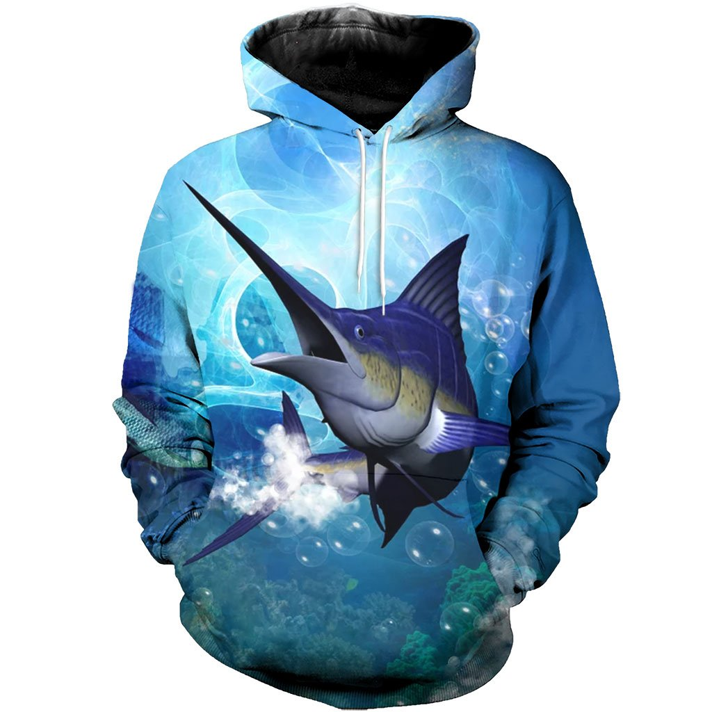 3D All Over Printed Awesome Sword Fish Shirts And Shorts