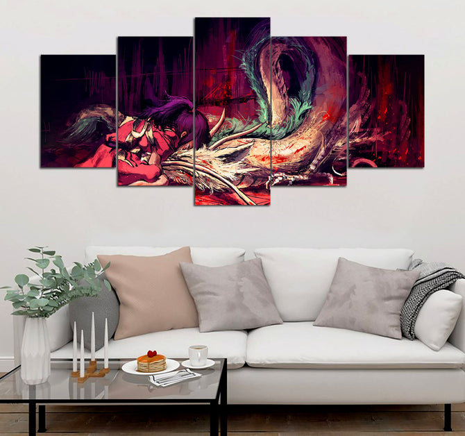 5-piece Bleed _ Spirited Away  printed Canvas Wall Art ATUK240304 - gopowear.com