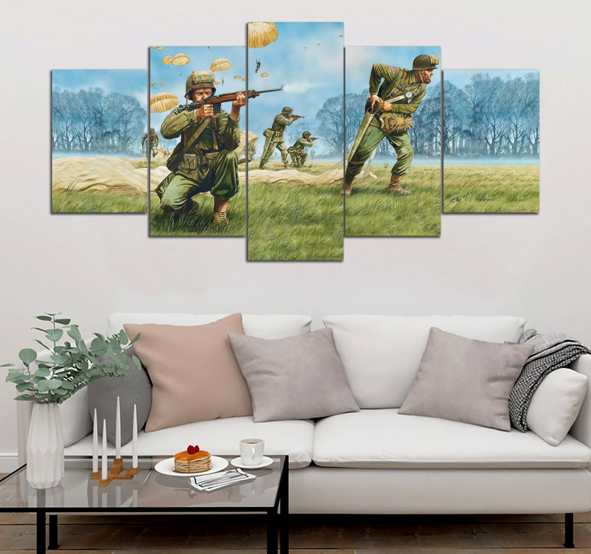 5-piece Paratrooper Printed Canvas Wall Art
