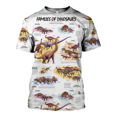 3D All Over Printed Dinosaurs Shirts And Shorts SHUL100909