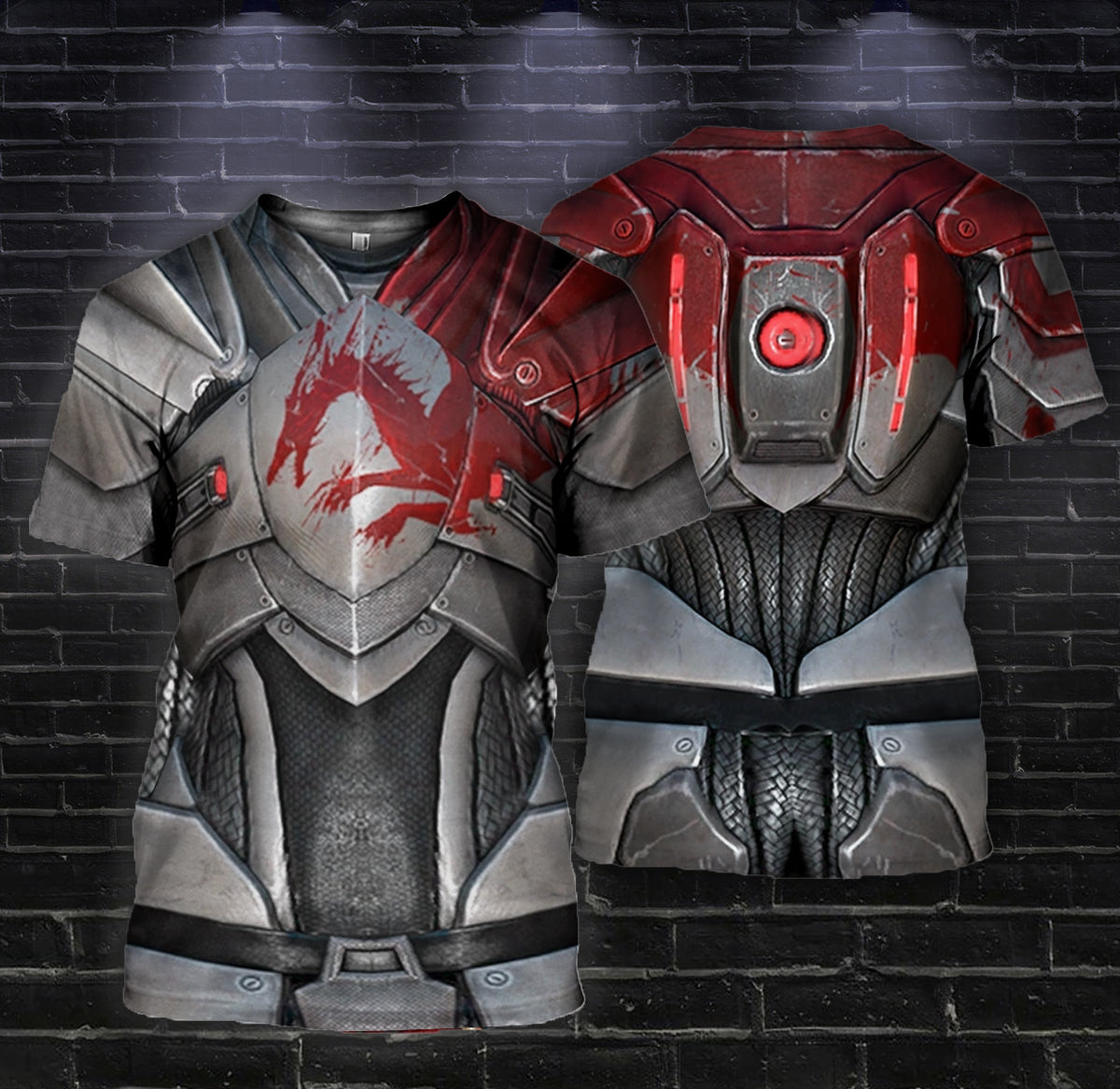 3D printed Blood Dragon Armor  Tops AHUK230702 - gopowear.com