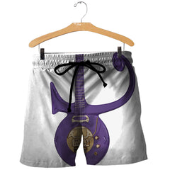 Prince Symbol Purple Guitar 3D All Over Printed Shirts For Men & Women