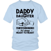 DADDY AND DAUGHTER NOT ALWAYS EYE TO EYE BUT ALWAYS HEART TO HEART SHIRT - gopowear.com