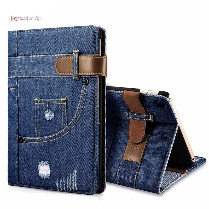 "Slim Fashion Jeans Flip Case For iPad Air 9.7"" - gopowear.com"