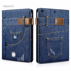 Slim Fashion Jeans Flip Case For iPad Air 9.7