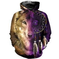 3D printed Wolf And Dream T-shirt Hoodie AHDK290303