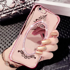 Luxury Diamond Mirror TPU Case For iPhone