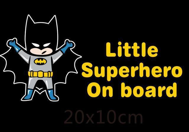 Litter Superheroes Baby On Board Reflective Car Stickers - gopowear.com