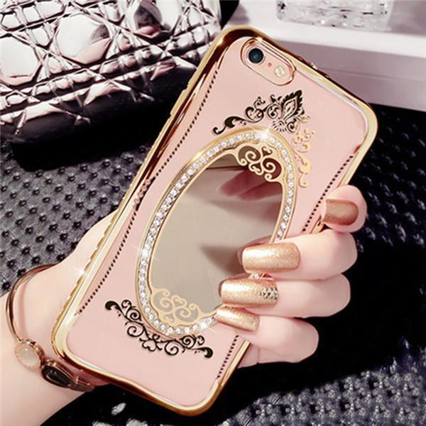 Luxury Diamond Mirror TPU Case For iPhone - gopowear.com