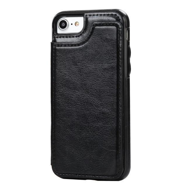 Leather Card Holder Stand Case for IPhone Samsung - gopowear.com