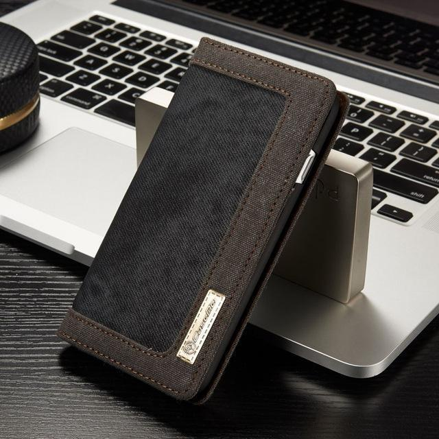 Nature Denim Wallet Case for iPhone 7/8 (plus) - gopowear.com