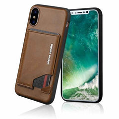 Genuine Leather Cases with Slim Card Holder for iPhone X
