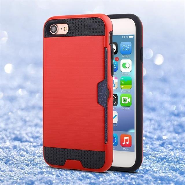 Card Slot Shockproof Case for all iPhone - gopowear.com