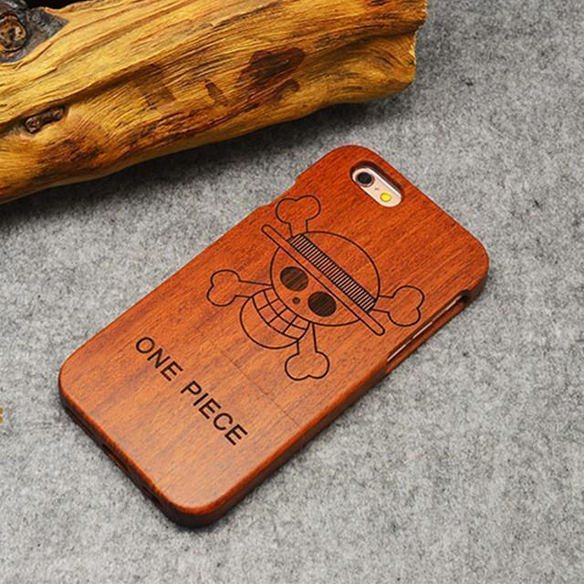 Carving Natural Wood Shockproof Hard Cases iPhone 7 6 6s 4.7