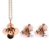 Stainless steel Charm Rose Flower Jewelry Sets J1047 - gopowear.com