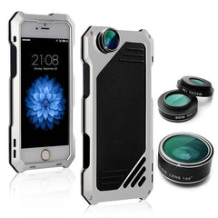 High Quality with HD Lens Metal Phone Cases For Apple iPhone 6 6s - gopowear.com