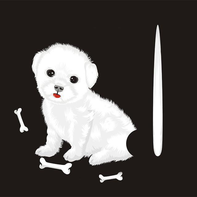 3D Funny Beautiful Moving Tail Dog Reflective Car Stickers - gopowear.com