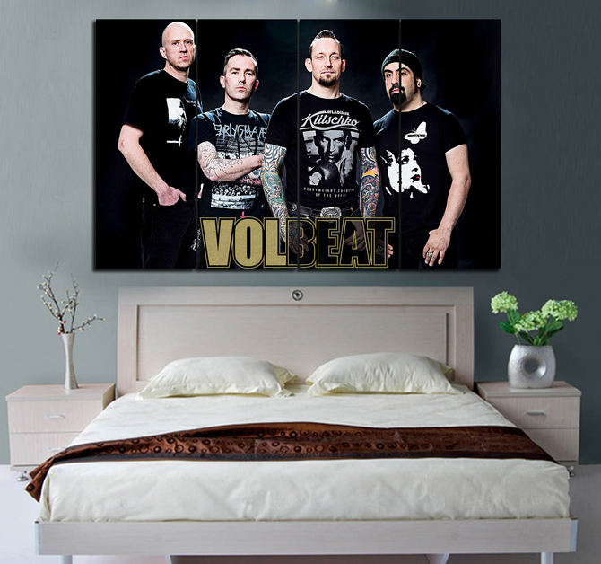 4-piece VOLBEAT printed Canvas Wall Art