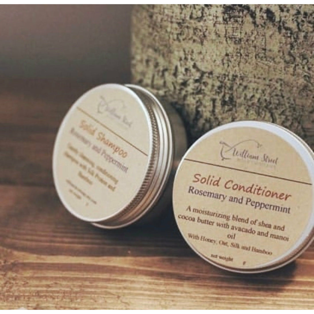Shampoo and Conditioner Bars in Travel Tins