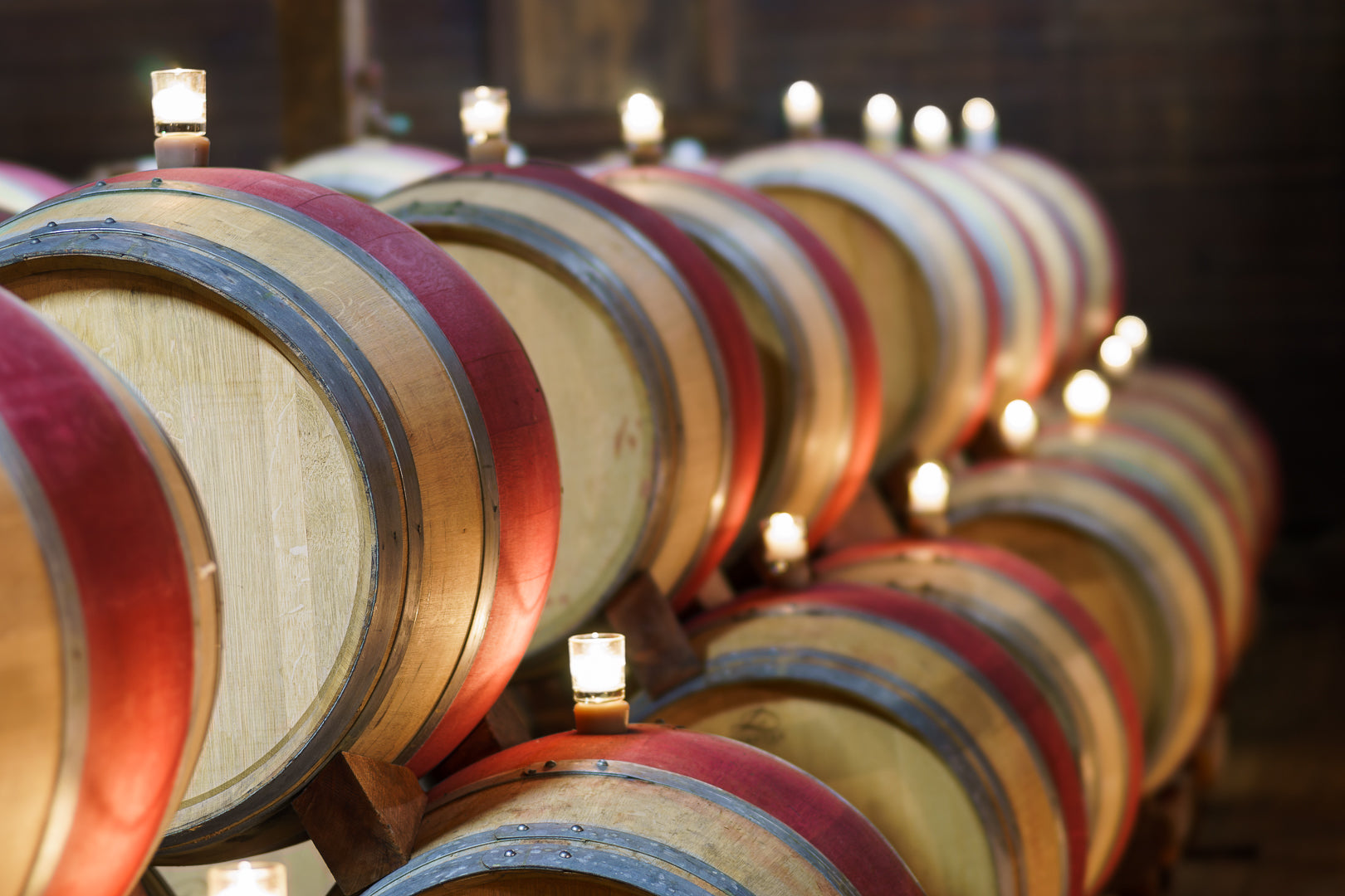 Wine barrels in Napa Valley