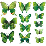 12 Pcs 3D Magnet Butterfly Wall Stickers