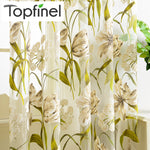 Tropical  Floral Printed Flower Window Curtains for Kitchen/living Room