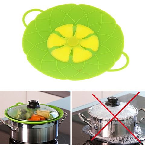 1 Pcs 28cm  Flower Shaped Silicon Spill Stopper Lid