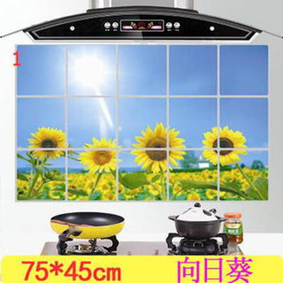 1 Pcs  Anti-smoke Tiles Cabinet Stickers