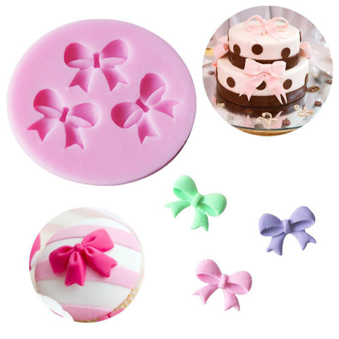 Bowknots Flower Silicone Fondant Mold Cake Decorating Tools