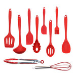 10 Pcs  Silicone Non-stick Cooking Spoon