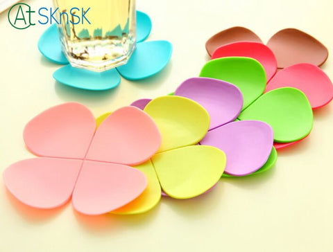 10 Pcs Flower Shape Coffee Mug PlaceMat