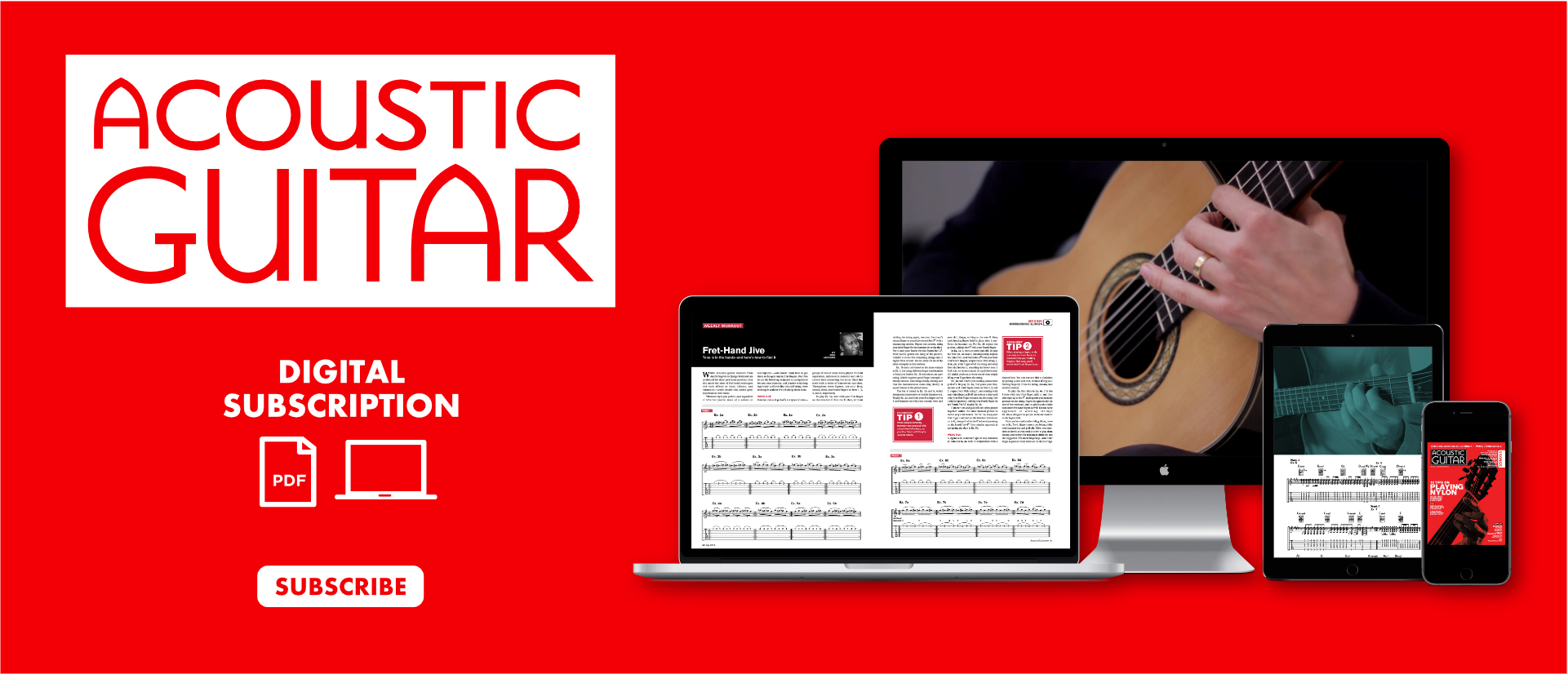 Acoustic Guitar Digital Subscription