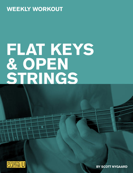 weekly workout flat keys and open strings acoustic guitar. Black Bedroom Furniture Sets. Home Design Ideas