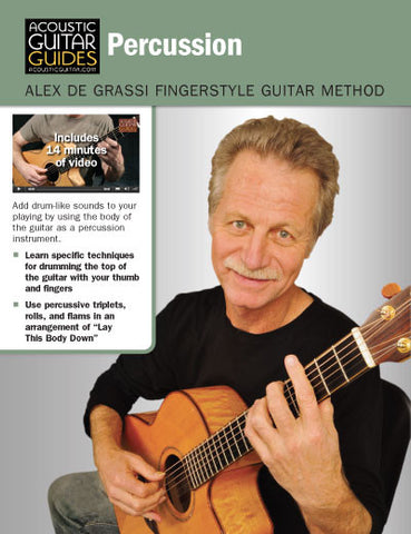 Alex de Grassi Fingerstyle Guitar Method: Percussion