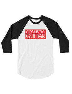 Acoustic Guitar 3/4 sleeve raglan shirt
