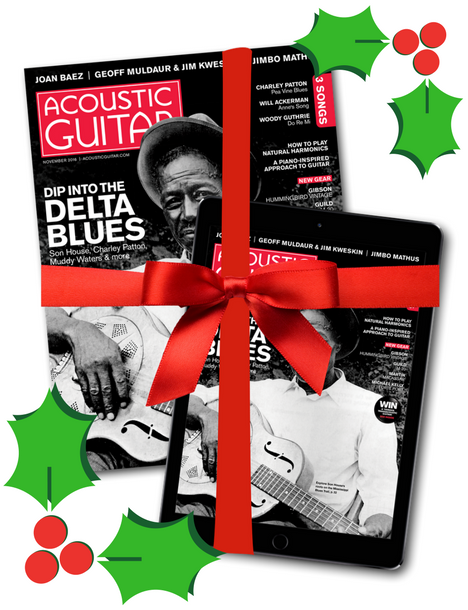 Holiday Acoustic Guitar Magazine Gift Subscription