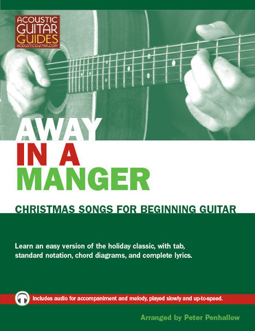 Christmas Songs for Beginning Guitar: Away in a Manger