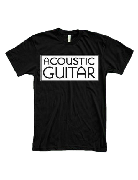 Acoustic Guitar T Shirt, Black