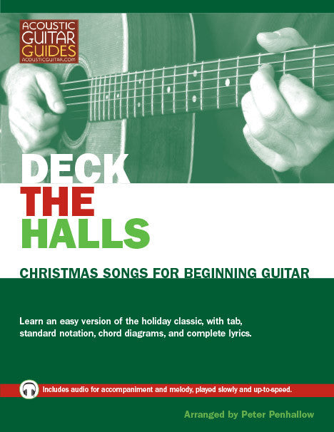 Christmas Songs for Beginning Guitar: Deck the Halls