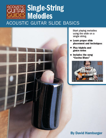 Acoustic Guitar Slide Basics: Single-String Melodies